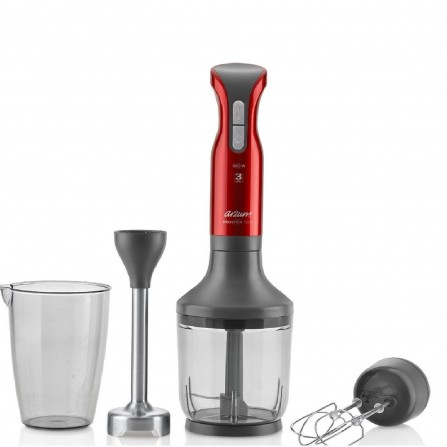 Mixeur Plongeant Arzum AR1042 -3en1 Grenat 1500 Watt - Rouge (AR1042)