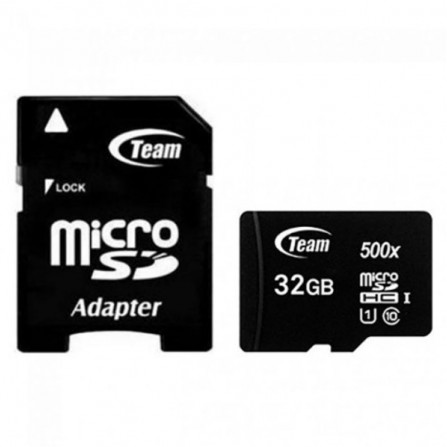 Carte Mémoire TEAMGROUP 32 Go Micro SDHC Class 10 avec Adaptateur