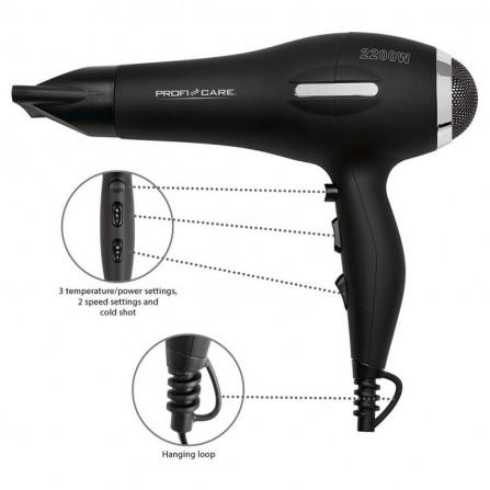 Sèche Cheveux Professionnel PROFICARE 2200 Watt- Noir(PC-HT 3017 )