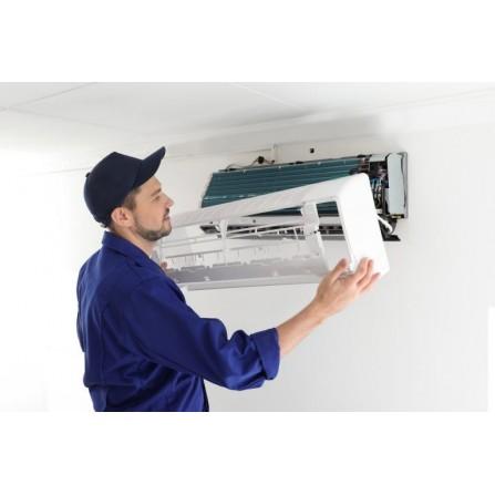Installation climatiseur avec support