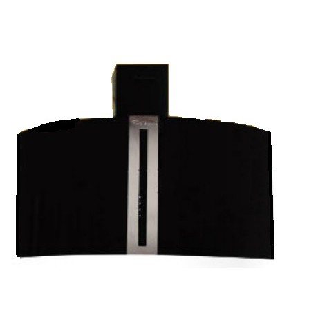 Hotte cheminée frontal+RC MONTBLANC 60 cm -Noir vitrée (BGF)
