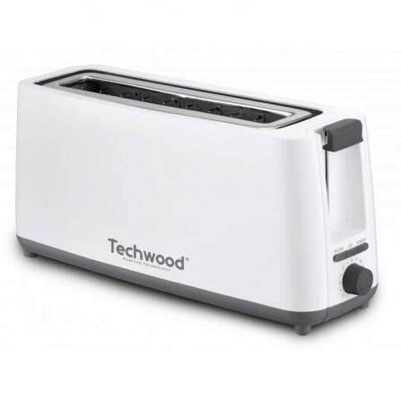 Grille Pain Jumbo TECHWOOD 750 Watt - Blanc (TGP-402)