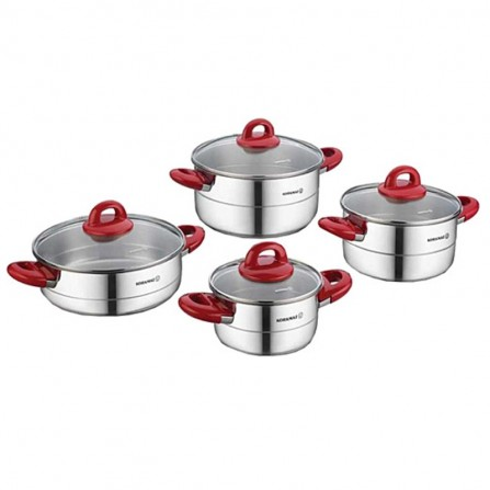 Set de 8 pièces Korkmaz Hera INDUCTION - Inox (A1087-2)