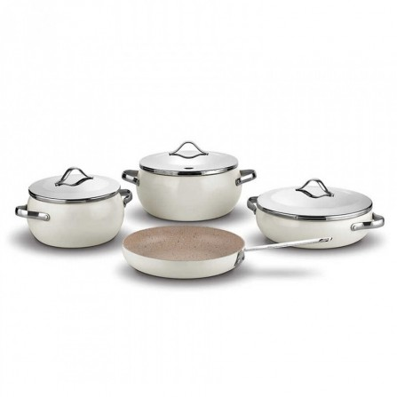 Set de 7 pièces Korkmaz LUMİA Cookware - Beige (A2674)