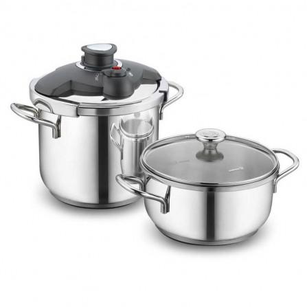 Set Korkmaz ALİA Pressure Cooker Cocotte + Casserole - Inox (A171 )