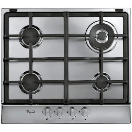 Table de cuisson à gaz Whirlpool  4 brûleurs à gaz - Inox (AKR 353/IX)