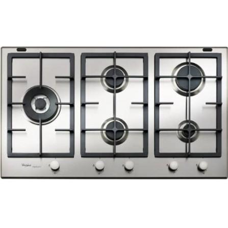 Plaque de cuisson 5 feux WHIRLPOOL 90 cm - inox ( GMA 9522/IX)
