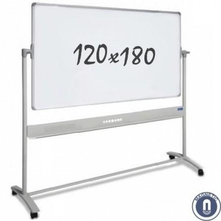 Tableau blanc mobile - double face + Support - magnétique - 120 x 180 cm (5001.050.880655)