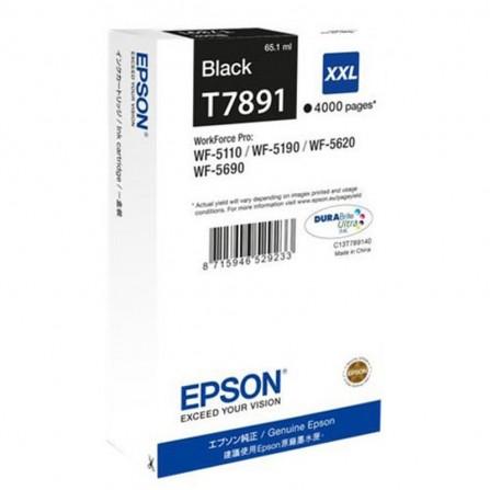 Cartouche d'encre noir Epson T7891 WF-5110/5620 Series Ink Cartridge XXL Black (4 000 p)