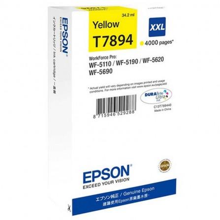 Cartouche d'encre Jaune XXL Epson T7892 WF-5110/5620 Series Ink Cartridge XXL Yellow (4 000 p)