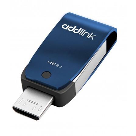 Clé USB Addlink T55 OTG 2en1 USB 3.1 + Micro USB - 16 Go (AD16GBT55B3)