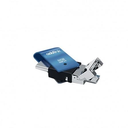Clé USB ADDLINK T80 - 64 GO -USB 3.1 - TYPE-C (AD64GBT80B3)