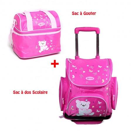 Pack Scolaire Gemus ST108 bear pour fille