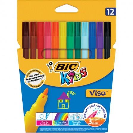 Pack de 12 Feutres BIC Visacolor XL