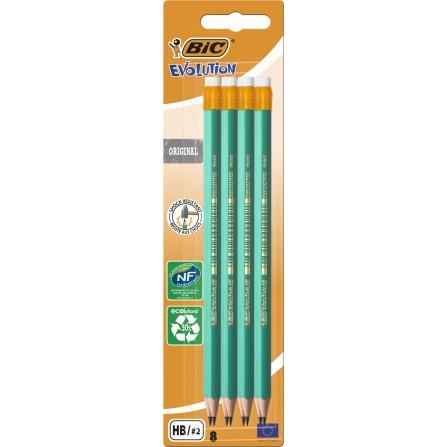 Crayons graphite BIC evolution HB avec gomme