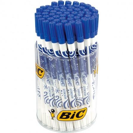 Effaceur d'encre et stylo de correction BIC - Bleu (8630491)