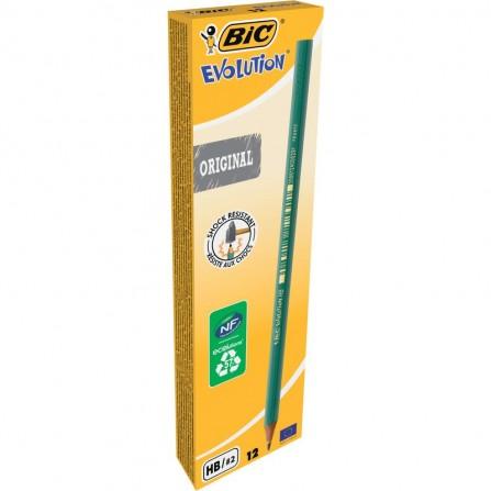 Crayons à papier ECOlutions EVOLUTION 650 - Pack de 10 - HB- BIC  (8902742)