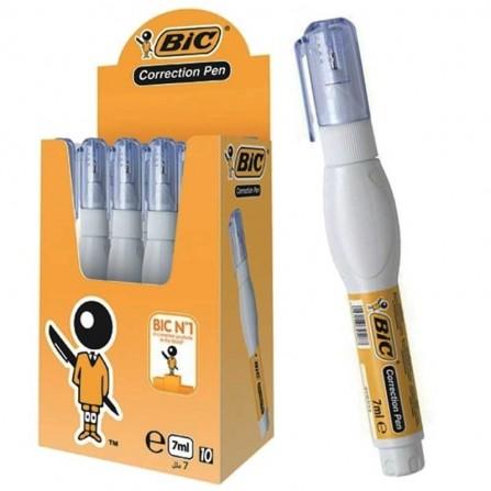 Stylo Correcteur Bic Blanc/Transparent - Boite de 10 (3086123354630)