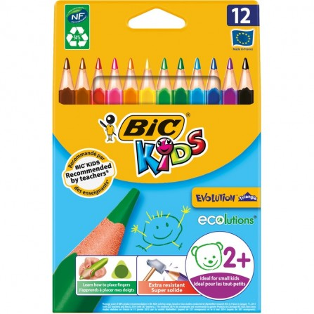 Crayons de couleur triangulaires Evolution Triangle BIC KIDS (8297356)