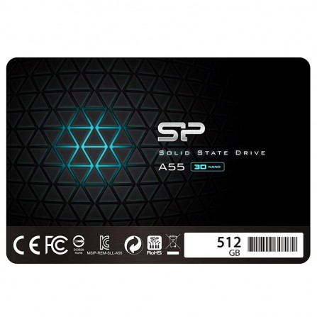 "Disque Dur Interne SILICON POWER A55 512Go SSD - 2.5"" - (SP512GBSS3A55S25)"