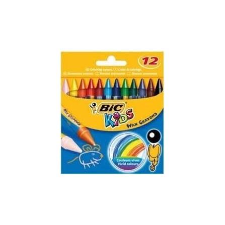 paquet de 12 Crayons Cire BIC Kids  (927830)
