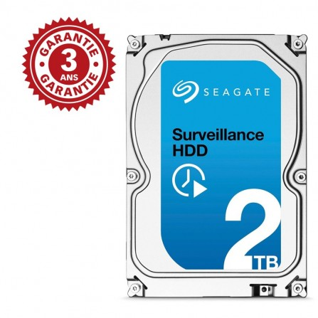 "Disque Dur Interne 3.5"" Seagate Surveillance HDD 2 To (+Rescue)"