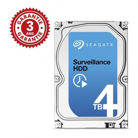 "Disque Dur Interne 3.5"" Seagate Surveillance HDD 4 To (+Rescue)"