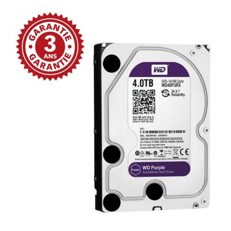 "Disque Dur Interne 3.5"" Western Digital Purple 4 To"
