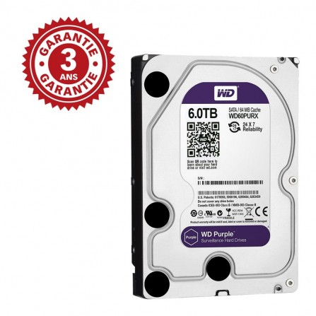 "Disque dur Interne 3.5"" Western Digital Purple 6 To WD60PURX"
