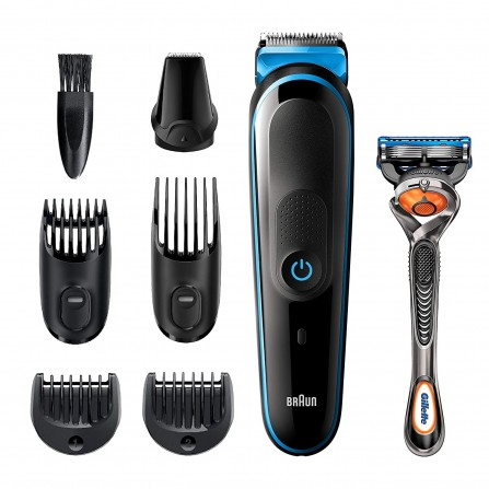 Tondeuse tout-en-un Braun , tondeuse à barbe 7-en-1 (MGK5245)