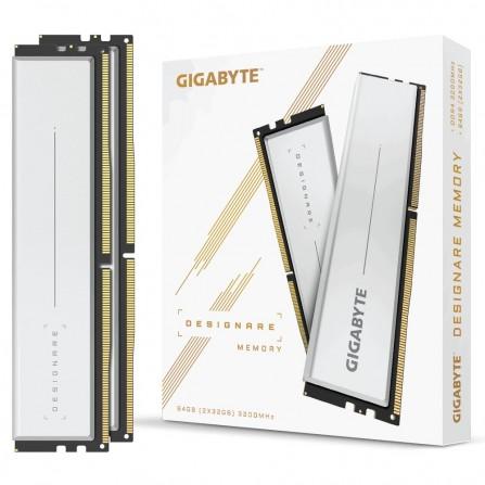 Barrette Mémoire Gigabyte DESIGNARE 64 Go (2x32 Go) 3200 MHz