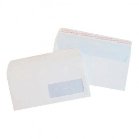 Enveloppes blanc PIGNA 110 x 220 mm Fenêtre Strip 80Gr (PQ/500)