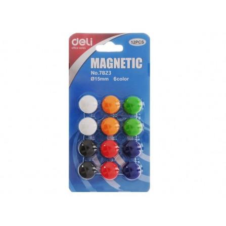 Bouton de fixation magnétique DELI 15MM ASS - E7823 - BL/12