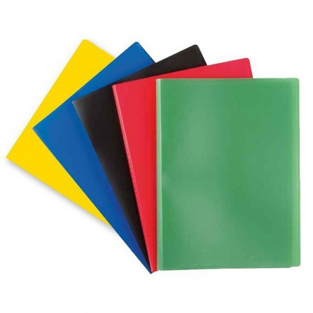 Porte documents DELI A4 PP 20 P Assortis - EB00202