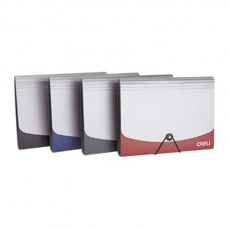 Organiser 13 Compta DELI A4 Fermeture élastique ASSORTIS - E5558