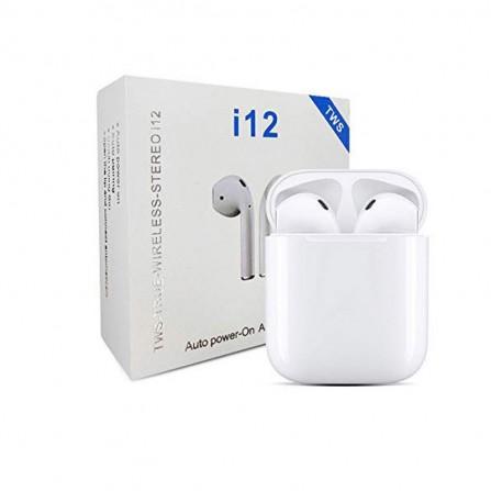 Écouteurs Bluetooth Sans Fil TWS-I12 - Blanc
