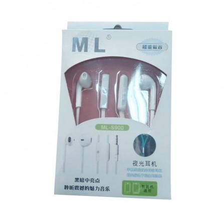 Écouteur ML avec microphone - Blanc (ML-S900)