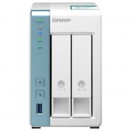 Serveur NAS 2 baies (sans disque dur) QNAP 2TO - (TS-231K)