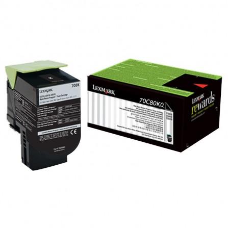 Toner Original Lexmark Black CS310,410,510 (1K) - 70C80K0