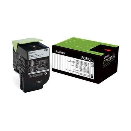 Toner Original Lexmark 808K Black   CX310,410,510 (1K) - 80C80K0