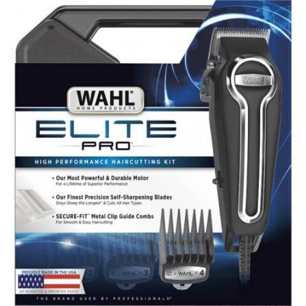 Tondeuse cheveux avec 21 Piéces Elite Pro WAHL - Noir (79602-201)