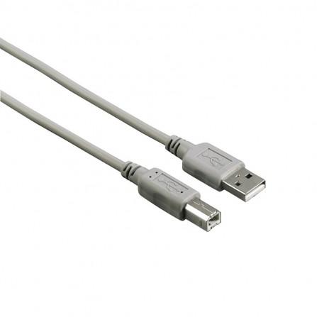 Câble USB 2.0 Hama , USB A mâle - USB B mâle, 1,80m, Gris