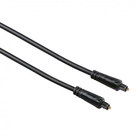 Câble à fibre optique audio HAMA, prise OD T (Toslink), plaqué or, 3 m