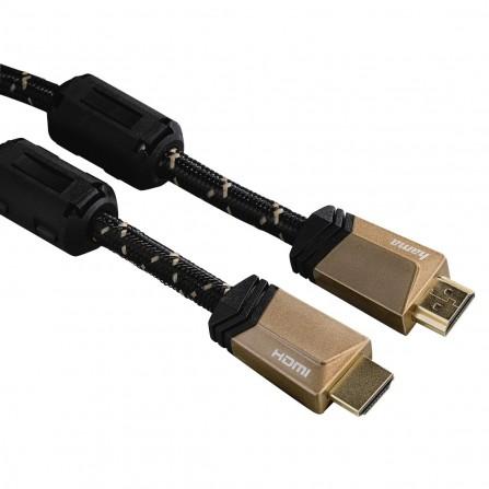 Câble HDMI Hama Premium avec Ethernet, mâle - mâle, ferrite, métal, 1,5 m