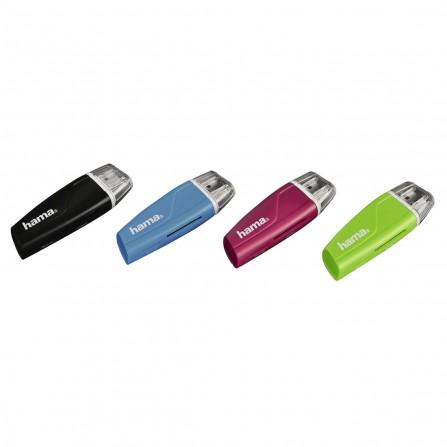 Lecteur USB 2.0 de cartes mémoire SD/microSD Hama