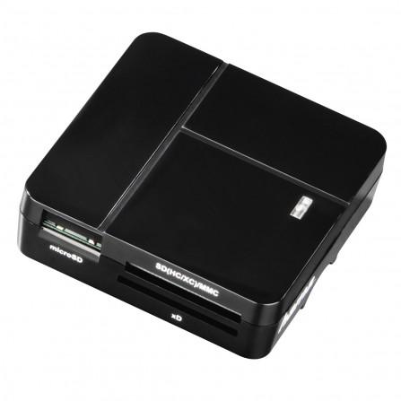 """Lecteur USB 2.0 """"Basique"""" de cartes multiples Hama - Noir"""