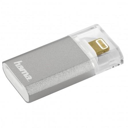"Lecteur de cartes Lightning ""Save2Data mini"", microSD Hama - Argent"