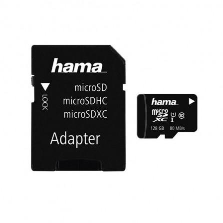 microSDHC 128 Go Classe 10 UHS-I 80 Mo + Adaptateur Hama