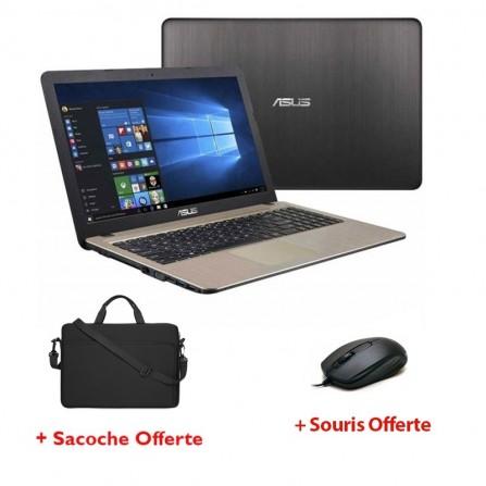 PC Portable ASUS VivoBook Max Dual-Core - 4Go - 500Go Noir (X540NA-GO034T)