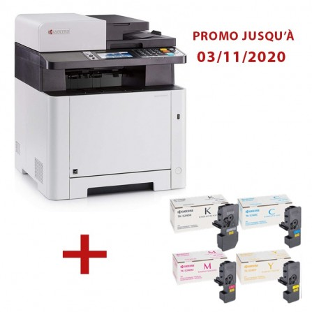 Pack imprimante Multifonction Laser Couleur Kyocera Ecosys M5526cdw /WIFI + Toners
